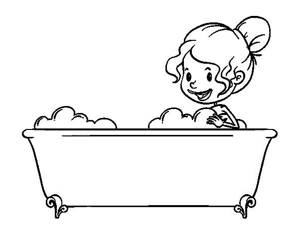 Dibujo de ba o para colorear - Pintar un bano ...