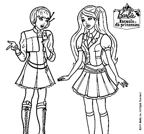 Dibujo de Barbie conversando para Colorear  Dibujosnet