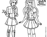 Dibujo de Barbie conversando para colorear