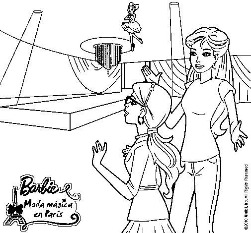 Dibujo de Barbie descubre a las hadas mgicas para Colorear