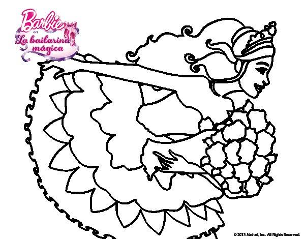 Imagenes Sin Colorear: Dibujo De Barbie En Un Saludo De Agradecimiento Para