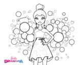 Dibujo de Barbie Princesa Rosa