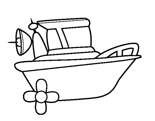 Dibujo de Barco a motor para Colorear  Dibujosnet