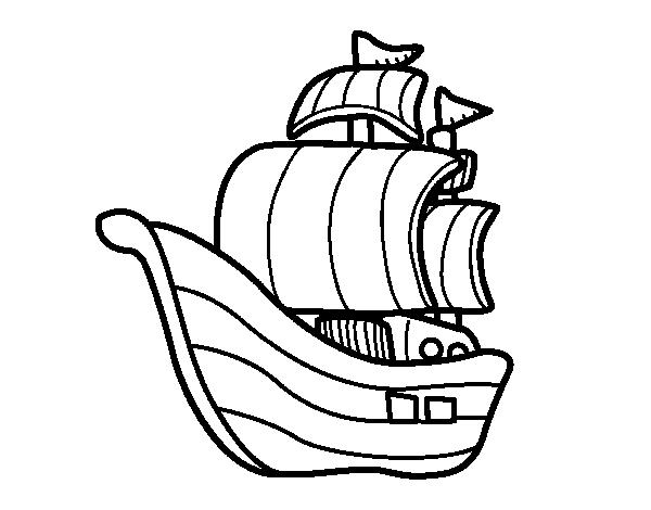 Dibujo de Barco de corsarios para Colorear  Dibujosnet