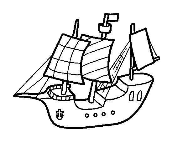 Dibujo de Barco de juguete para Colorear