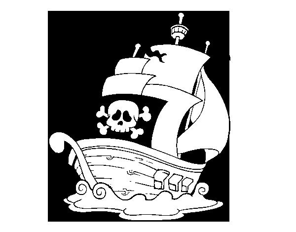 Worksheet. Dibujo de Barco de piratas para Colorear  Dibujosnet
