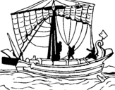 Dibujo de Barco romano para colorear