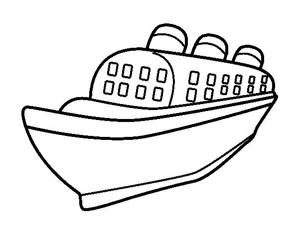 Dibujo de Barco transatlántico para Colorear