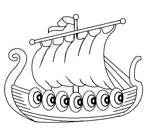 Dibujo de Barco vikingo para Colorear