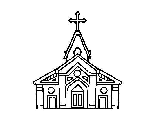 Dibujo de Basílica para Colorear