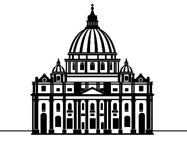 Dibujo de Baslica de San Pedro del Vaticano para Colorear