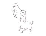 Dibujo de Basset hound para colorear