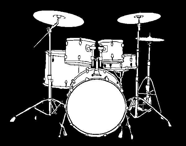 Dibujo de Batera de percusin para Colorear  Dibujosnet