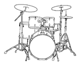 Dibujo de Batería de percusión para colorear