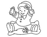 Dibujo de Bebé 3 para colorear