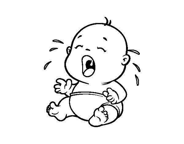 Dibujo de Beb llorando 1 para Colorear  Dibujosnet
