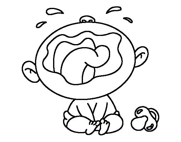 Dibujo de Beb llorando para Colorear  Dibujosnet