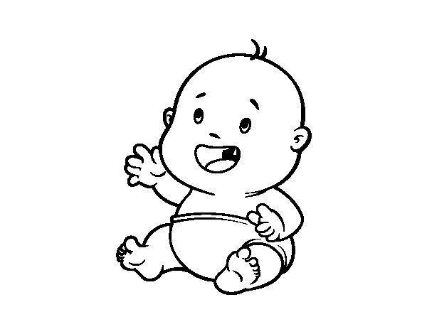 Dibujo de Beb sonriendo para Colorear  Dibujosnet