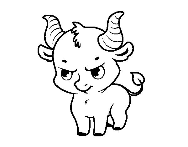 Dibujo de beb toro para colorear - Dessin de toro ...