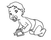Dibujo de Bebe para colorear