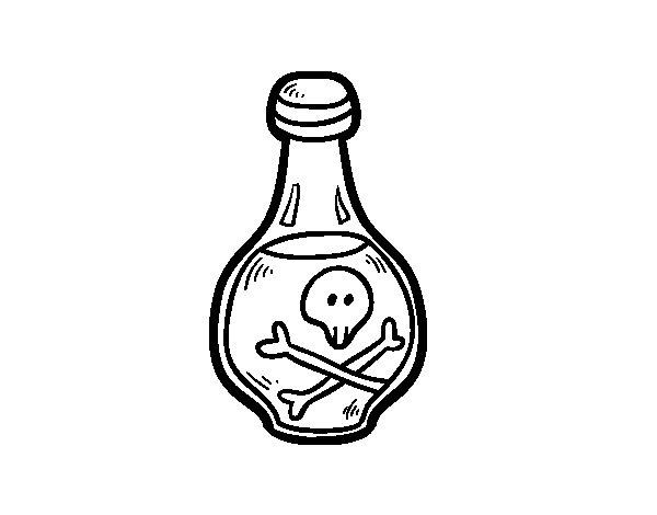 Dibujo de Bebida pirata para Colorear