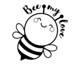 Dibujo de Bee my love para colorear