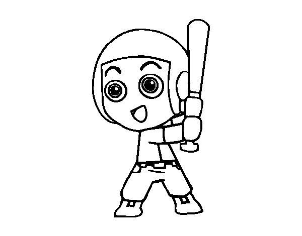 Dibujo de Béisbol para Colorear