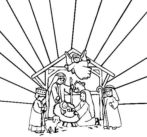 Dibujo de Belén 1 para Colorear