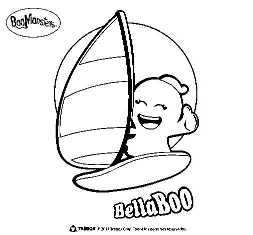 Dibujo de BellaBoo para Colorear