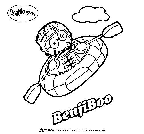 Dibujo de BenjiBoo para Colorear