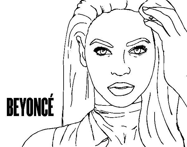 Dibujo de Beyoncé I am Sasha Fierce para Colorear
