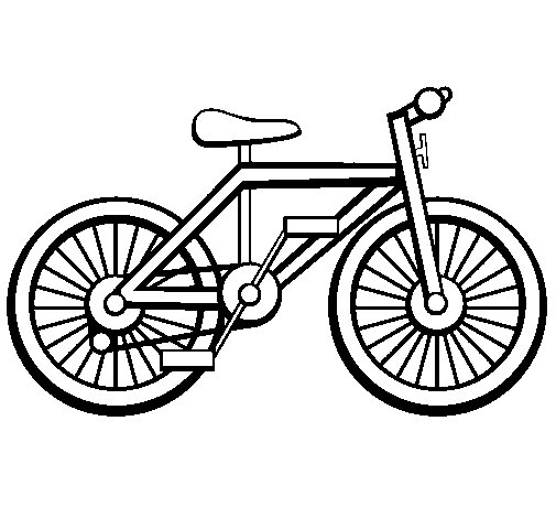 Dibujo de Bicicleta para Colorear