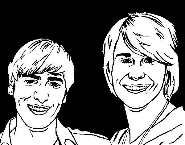 Dibujo de Big time Rush 2 para Colorear