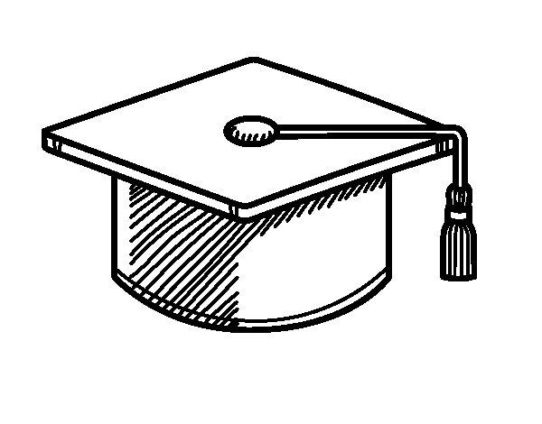 Dibujo de Birrete de graduacin para Colorear  Dibujosnet