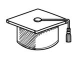 Dibujo de Birrete de graduación para colorear