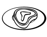 Dibujo de Bistec para colorear