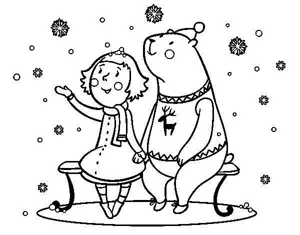 Dibujo de Blanca Navidad para Colorear