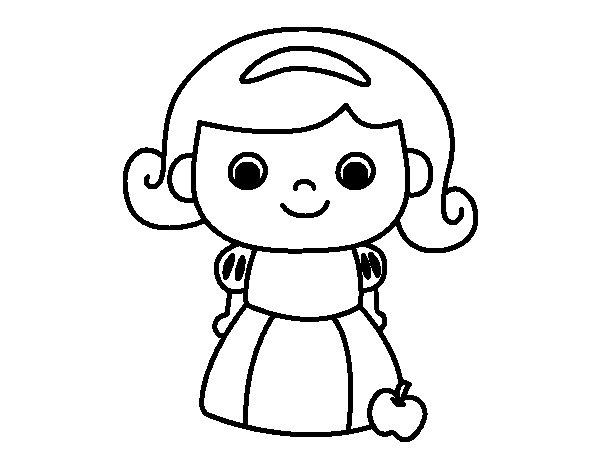 Dibujo de Blancanieves para Colorear