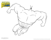 Dibujo de Bob Esponja - Planktonman al ataque para colorear