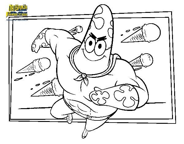 Dibujo de Bob Esponja - Sr súper dúper al ataque para Colorear