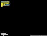 Dibujo de Bob Esponja - Sr Súper Dúper y burbuja invencible
