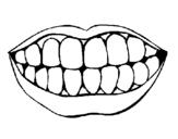 Dibujo de Boca y dientes para colorear