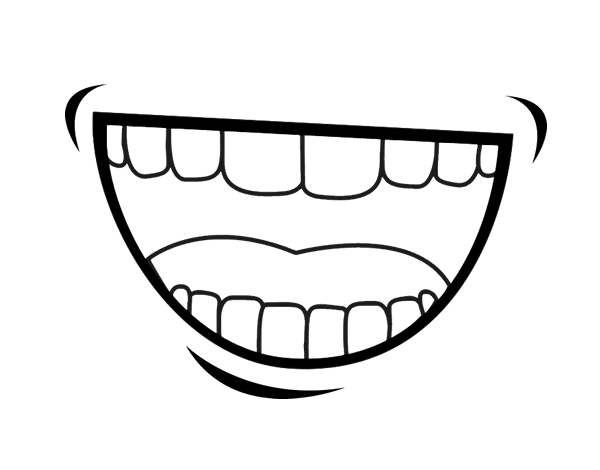 coloring pages for tongue teeth - photo#4