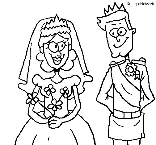 Matrimonio Catolico Para Colorear : Dibujo de boda real para colorear dibujos