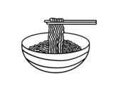 Dibujo de Bol de fideos para colorear