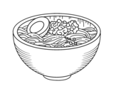 Dibujo de Bol de ramen