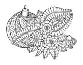 Dibujo de Bola de Navidad con decoración para colorear