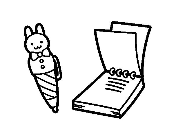 Dibujos De Mi Libreta: Dibujo De Bolígrafo Infantil Y Libreta Para Colorear