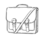 Dibujo de Bolso estilo messenger para colorear