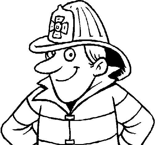 Dibujo de Bombero 2 para Colorear  Dibujosnet